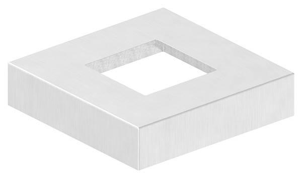 Abdeckrosette | Maße: 109x109x25 mm | für Vierkantrohr: 50x50 mm | V4A