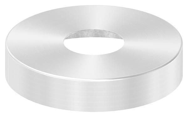 Abdeckrosette | Maße: Ø 125x25 mm | für Rundrohr: Ø 42,4 mm | V2A