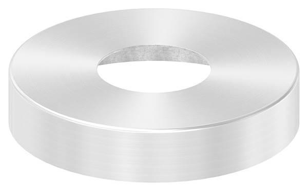 Abdeckrosette | Maße: Ø 125x25 mm | für Rundrohr: Ø 48,3 mm | V2A