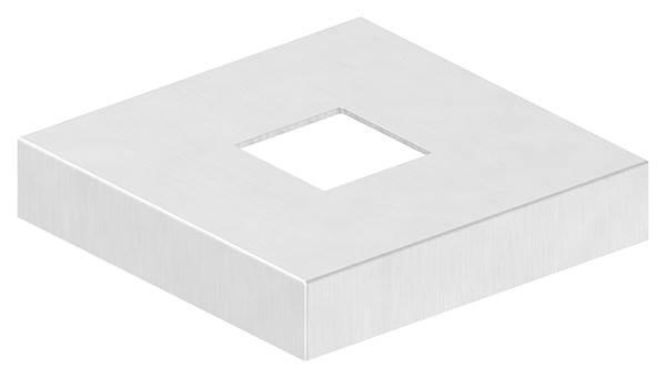 Abdeckrosette | Maße: 129x129x25 mm | für Vierkantrohr: 40x40 mm | V4A