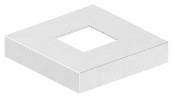 Abdeckrosette | Maße: 129x129x25 mm | für Vierkantrohr: 50x50 mm | V4A