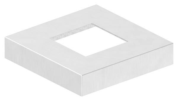 Abdeckrosette | Maße: 129x129x25 mm | für Vierkantrohr: 60x60 mm | V4A