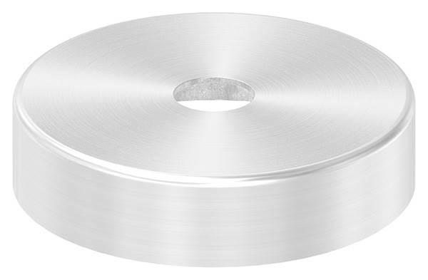Abdeckrosette | Maße: Ø 62x15 mm | für Rundrohr: Ø 12 mm | V2A