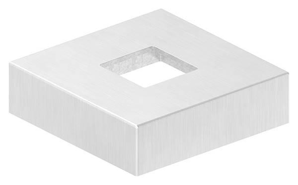 Abdeckrosette | Maße: 72x72x20 mm | für Vierkantrohr: 25x25 mm | V4A