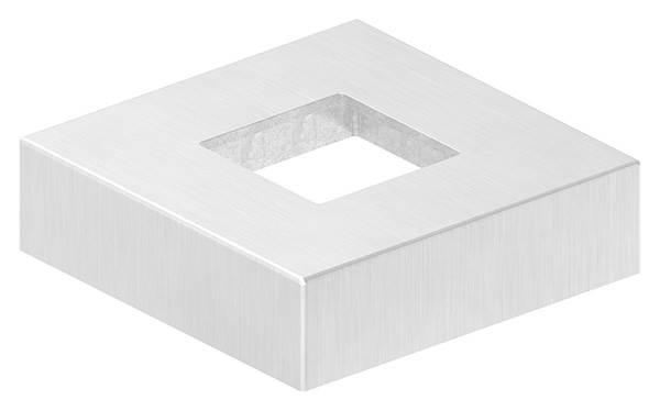 Abdeckrosette | Maße: 72x72x20 mm | für Vierkantrohr: 30x30 mm | V4A