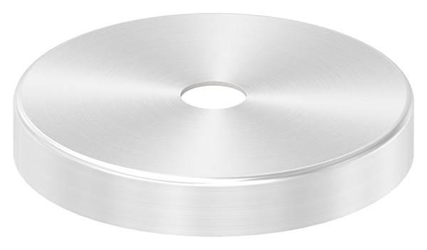 Abdeckrosette | Maße: Ø 76x12 mm | für Rundrohr: Ø 12 mm | V2A
