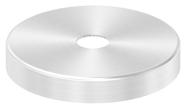 Abdeckrosette | Maße: Ø 76x12 mm | für Rundrohr: Ø 14 mm | V2A