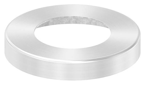 Abdeckrosette | Maße: Ø 76x12 mm | für Rundrohr: Ø 42,4 mm | V2A