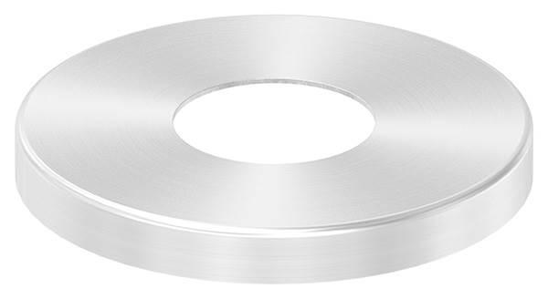 Abdeckrosette | Maße: Ø 87x10 mm | für Rundrohr: Ø 33,7 mm | V2A
