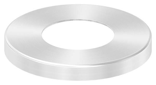 Abdeckrosette | Maße: Ø 87x10 mm | für Rundrohr: Ø 42,4 mm | V2A