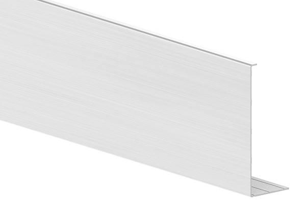 Abdeckung für Ganzglasgeländer | KOMPAKT | Länge: 6000 mm | seitliche Montage | Aluminium