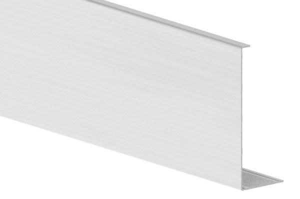 Abdeckung für Ganzglasgeländer | MASSIV | Länge: 3000 mm | seitliche Montage | Aluminium