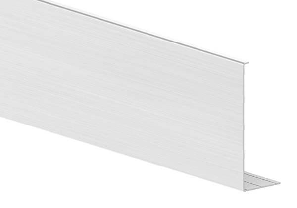 Abdeckung für Ganzglasgeländer | KOMPAKT | Länge: 3000 mm | seitliche Montage | Aluminium