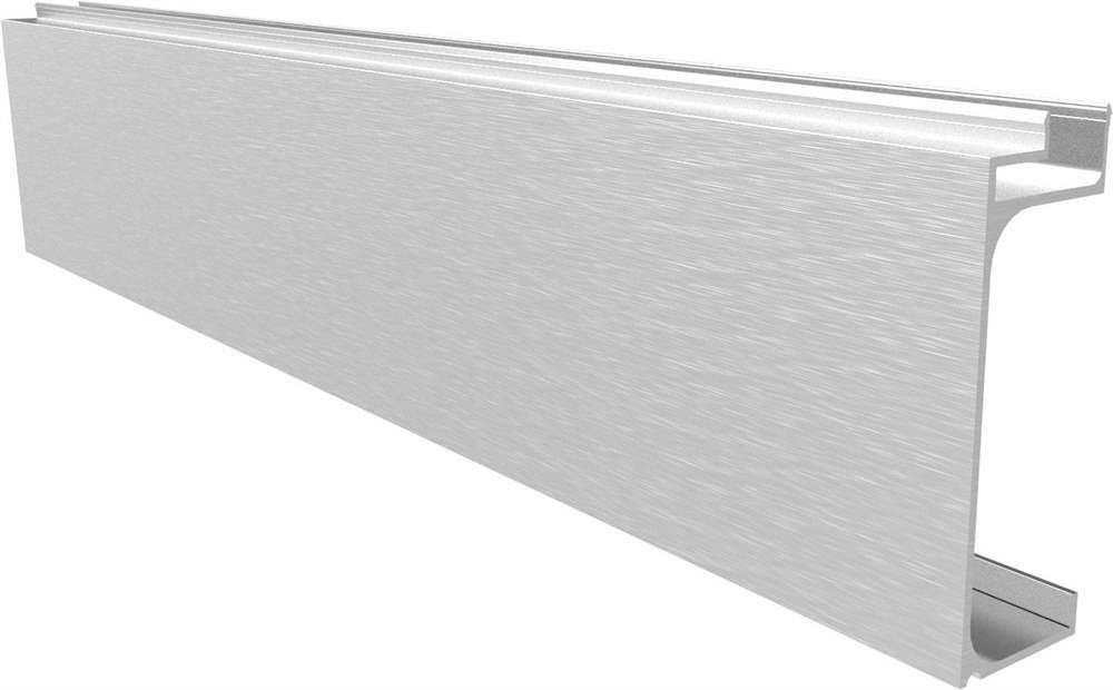 Abdeckung für Ganzglasgeländer | MASSIV2 | Länge: 3000 mm | seitliche Montage | Aluminium