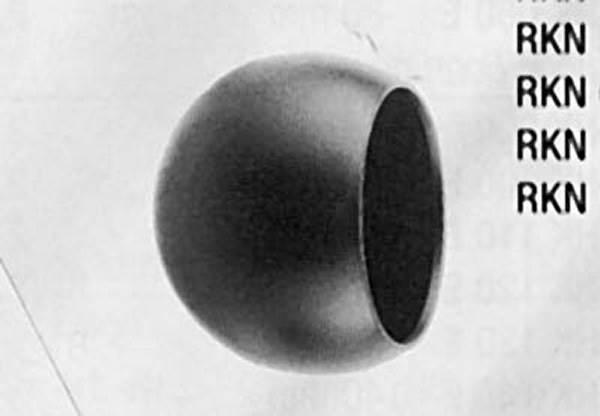 Abschlußkugel Ø 60 mm | für Ø 42,4 mm | Stahl S235JR, roh