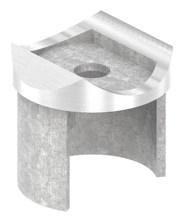 Adapter | für Nutrohr Ø 42,4 mm | V2A