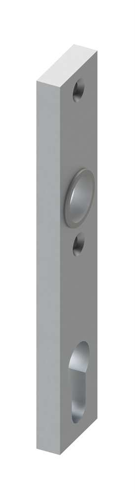 Alu-Kurzschild | Maße: 30x160x10 mm | Form: vierkant | Aluminium EV1
