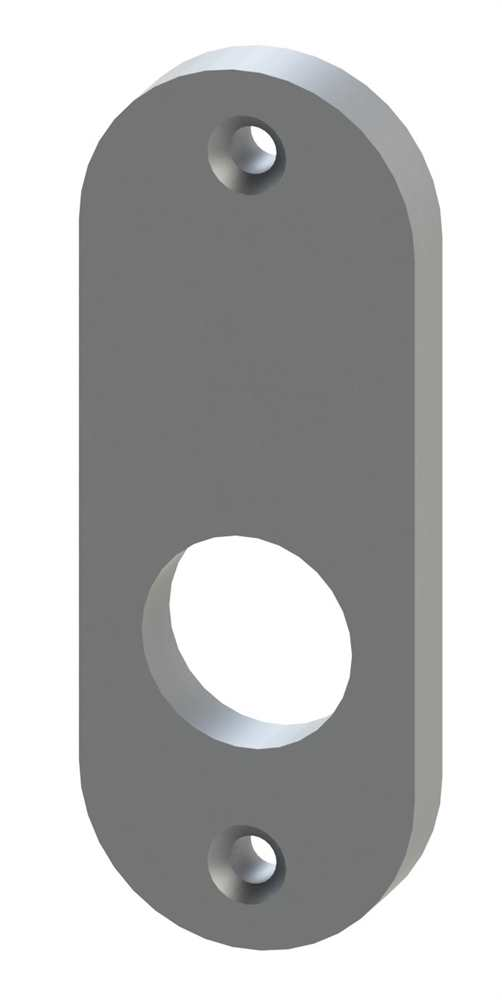 Alu-Kurzschild | Maße: 30x87x10 mm | Aluminium EV1
