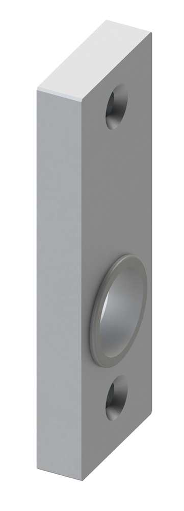 Alu-Kurzschild | Maße: 30x88x10 mm | Form: vierkant | Aluminium EV1