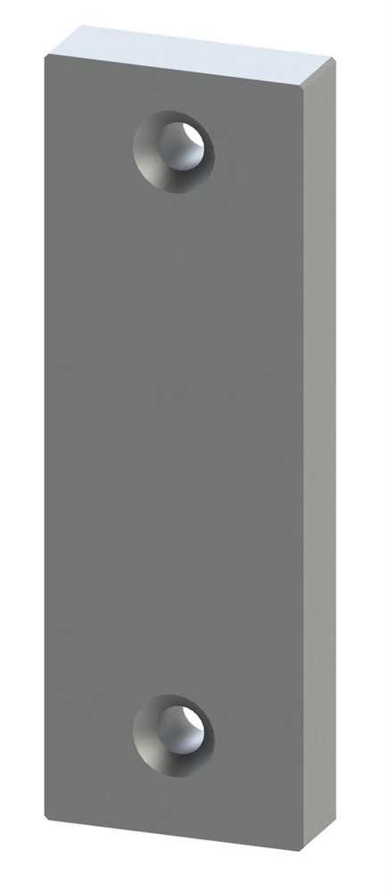 Alu-Kurzschild | Maße: 32x87x7 mm | Form: vierkant | Aluminium EV1