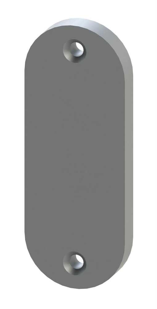 Alu-Kurzschild | Maße: 32x87x8 mm | Aluminium EV1
