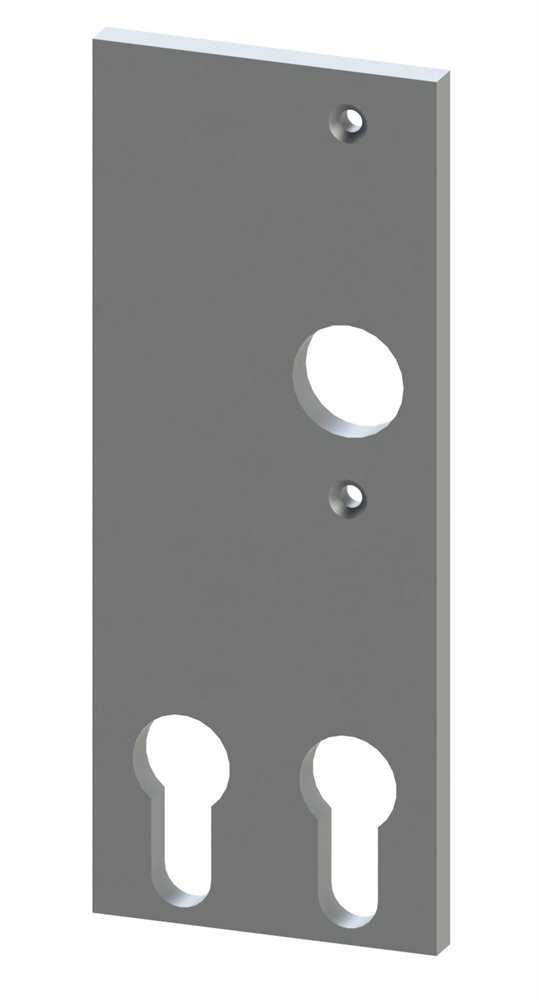 Alu-Kurzschild | Maße: 61x156x6,5 mm | Form: vierkant | Aluminium EV1