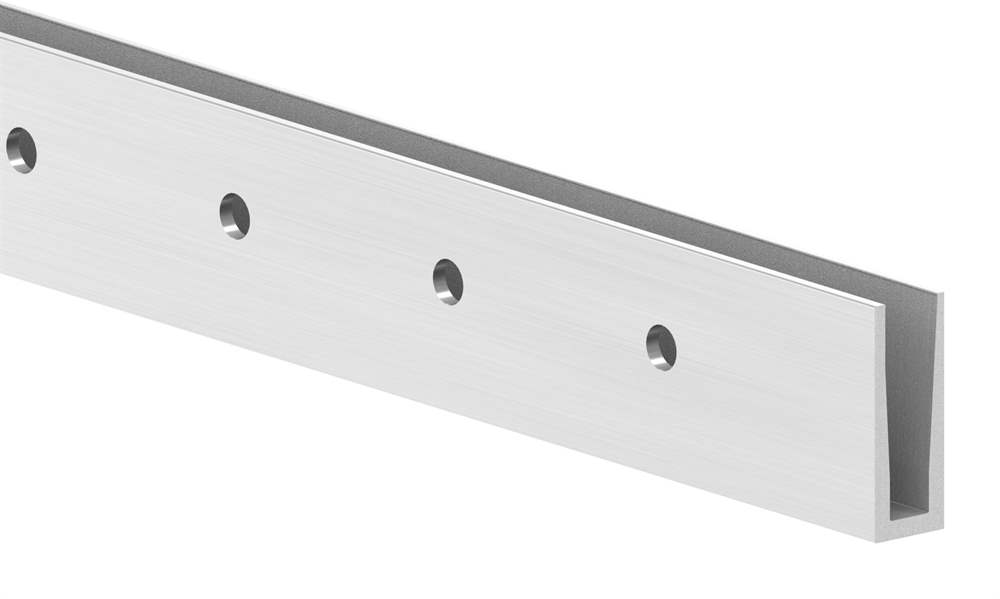 Alu-Profil | KOMPAKT | Länge: 3000 mm | seitliche Montage | Aluminium