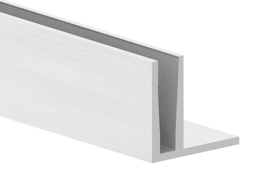 Alu-Profil | MASSIV | Länge: 6000 mm | aufgesetzte Montage | Aluminium