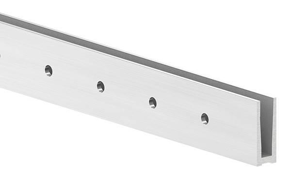 Alu-Profil | MASSIV | Länge: 6000 mm | seitliche Montage | Aluminium