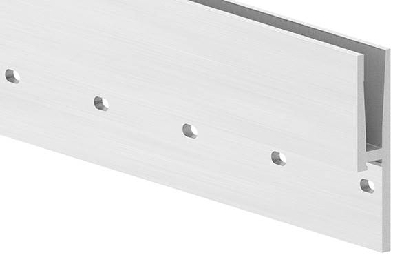 Alu-Profil | MASSIV2 | Länge: 6000 mm | seitliche Montage | Aluminium