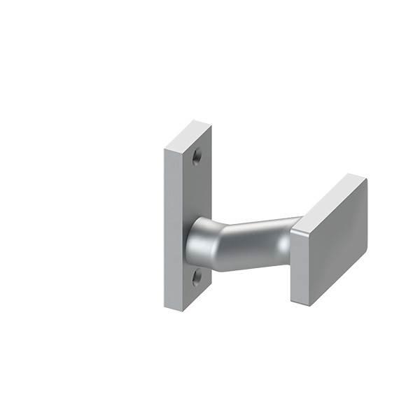 Alu-Türdrücker | fest mit Alu-Kurzschild | Aluminium EV1