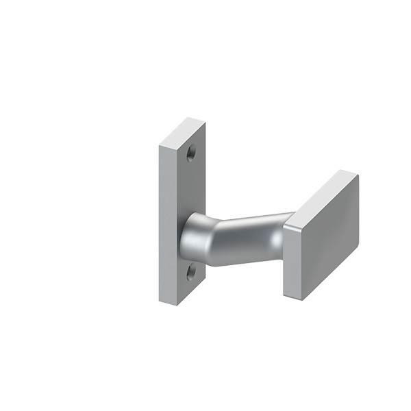 Alu-Türdrücker | gekröpft | drehbar | Aluminium EV1