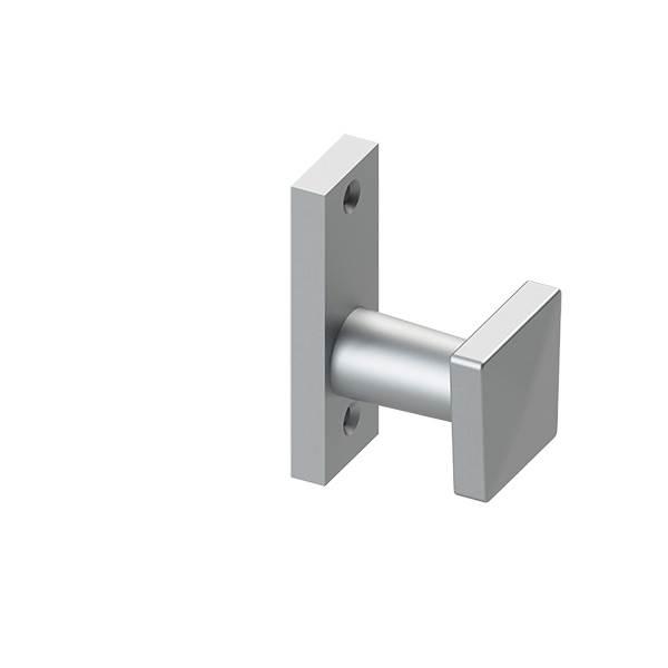 Alu-Türdrücker | quadratisch | für Schlosskästen | Aluminium EV1
