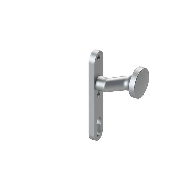Alu-Türknopf | mit Alu-Zylinderkurzschild (rund) | Aluminium EV1