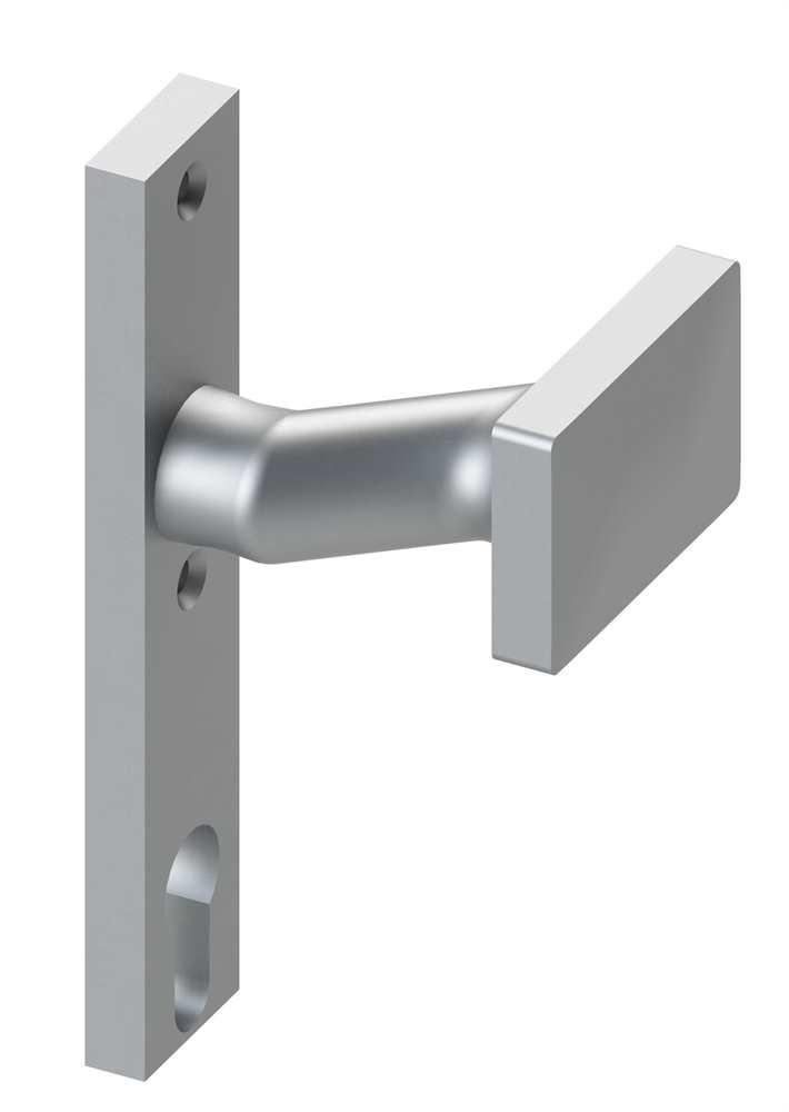 Alu-Türdrücker | Form: gekröpft | Aluminium EV1