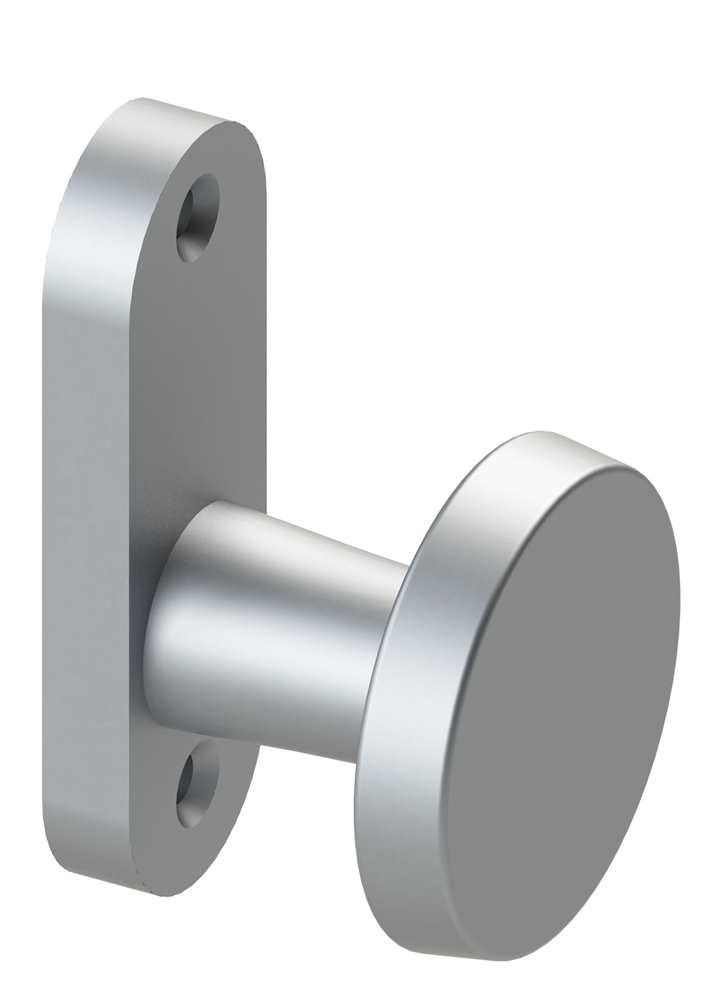 Alu-Türknopf | fest mit Alu-Kurzschild | Aluminium EV1