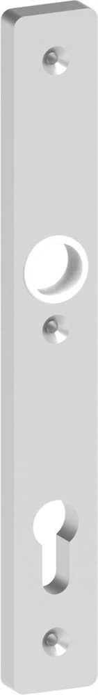 Alu-Zylinderlangschild | Maße: 30x245x10 mm | Form: vierkant | Aluminium EV1
