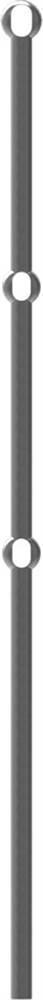 Anfangsstab | Pfosten | Länge: 1200 mm | Material: Ø 25 mm | Stahl S235JR, roh