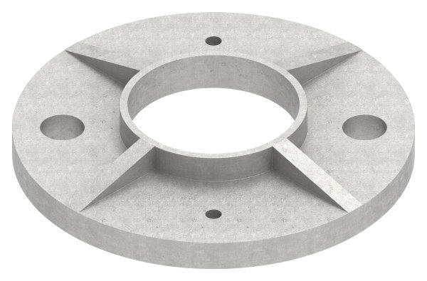 Ankerplatte Ø 100 mm für Rundrohr Ø 42,4 mm V4A