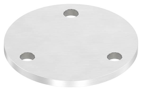 Ankerplatte | Ø 100 x 6 mm | mit 3 Bohrungen á Ø 11 mm | V2A