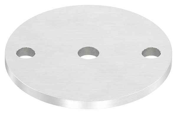 Ankerplatte | Ø 100 x 6 mm | mit Zentrierbohrung: Ø 12,5 mm | V2A