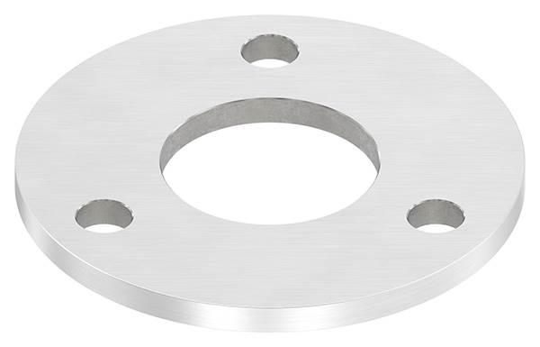 Ankerplatte | Ø 100 x 6 mm | mit Zentrierbohrung: Ø 42,8 mm | V4A