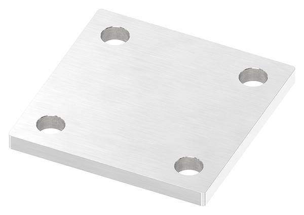 Ankerplatte 100x100x8 mm mit 4x Bohrung V2A