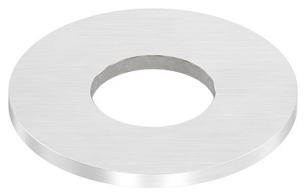 Ankerplatte 100x6 mm mit Längsschliff und Mittelbohrung V2A