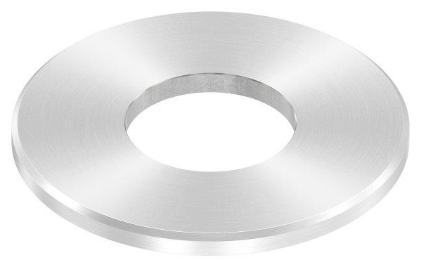 Ankerplatte 100x6 mm mit Rundschliff + Fase und Mittelbohrung V2A