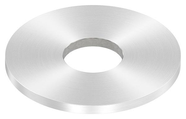 Ankerplatte Ø 100x6 mm mit Rundschliff + Mittelbohrung V2A