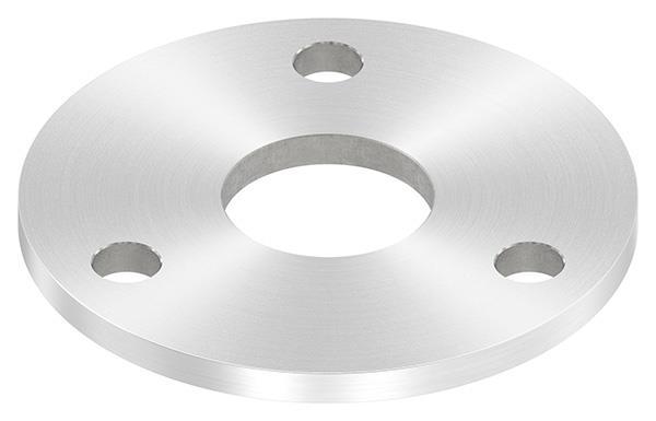 Ankerplatte 100x6 mm mit Rundschliff und Mittelbohrung V2A