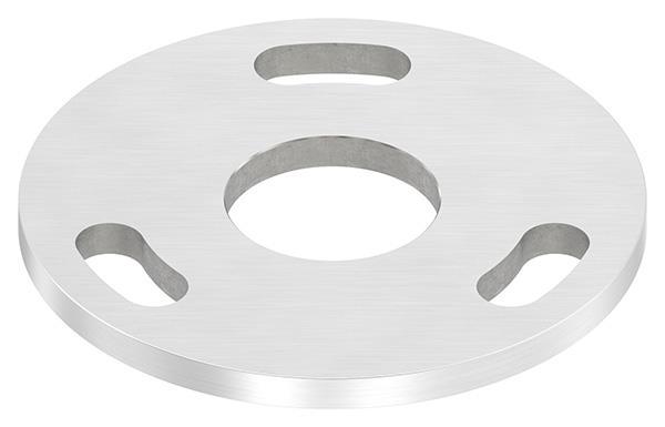 Ankerplatte Ø 100x6 mm V2A mit Mittelbohrung Ø 34 mm