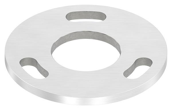 Ankerplatte Ø 100x6 mm V2A mit Mittelbohrung Ø 43 mm