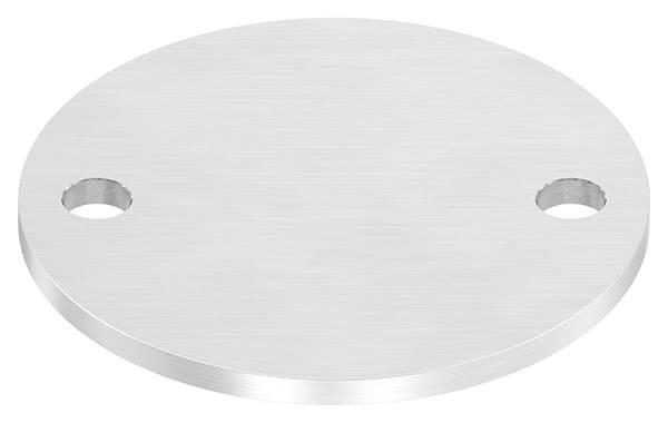 Ankerplatte | Ø 120 x 6 mm | mit 2 Bohrungen á Ø 13 mm | V2A